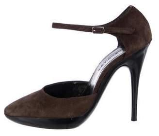 Balenciaga Suede High Heel Pumps