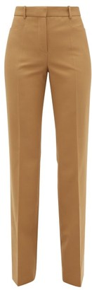 Joseph Sloane Tailored Wide Leg Trousers - Womens - Camel