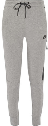 Nike - Tech Fleece Cotton-blend Track Pants - Gray $90 thestylecure.com