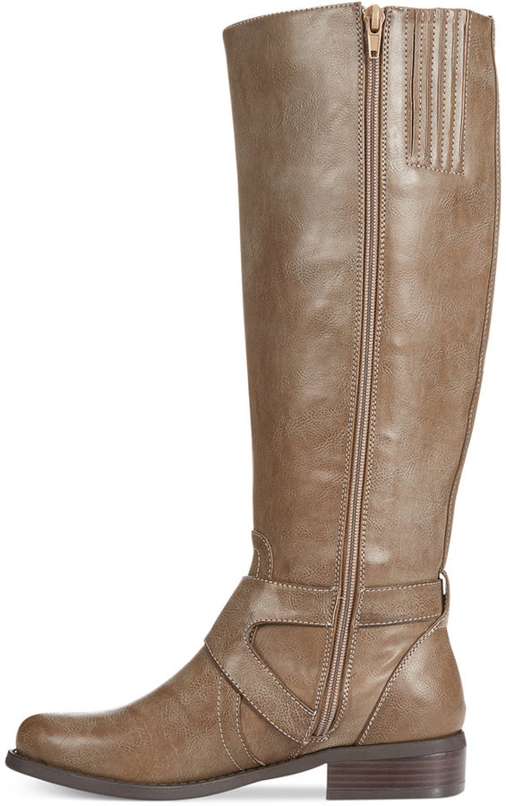 G by GUESS Women's Hertle Tall Shaft Wide Calf Riding Boots 4