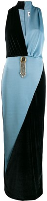 Fausto Puglisi two-tone fitted dress