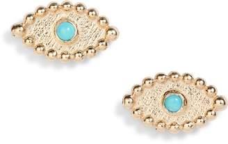 Anzie Dew Drop Evil Eye Earrings