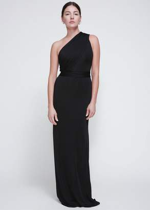 Lanvin One Shoulder Long Dress