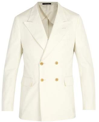 Dunhill Double Breasted Cotton Blazer - Mens - White
