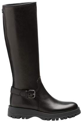 Prada Hammered Leather Boots