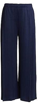 Pleats Please Issey Miyake Women's Monthly Colors November Wide-Leg Pants