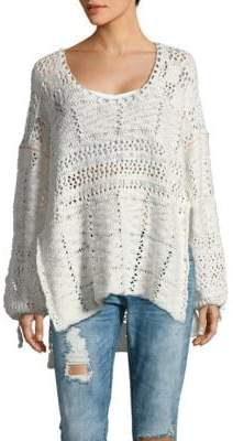 Free People Flower Child Cotton Tunic Sweater