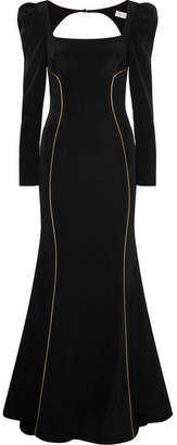 Rebecca Vallance Ivy Crepe Gown - Black
