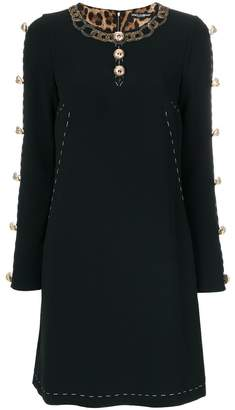 Dolce & Gabbana buttoned A-line dress
