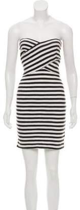 L'Agence Striped Mini Dress
