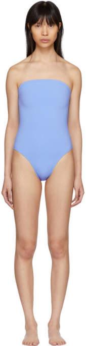 Blue 1831 Plaza Strapless Swimsuit