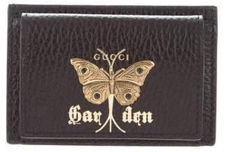 Gucci Leather Butterfly Card Case