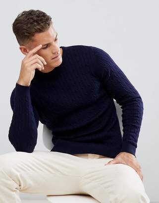 Jack and Jones Cable Knit In 100% Cotton