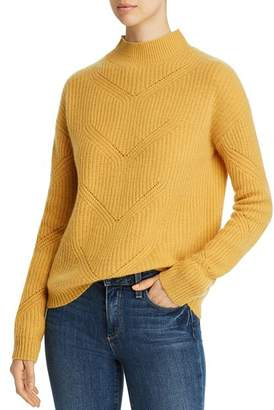 Bloomingdale's C by Pointelle Mock-Neck Cashmere Sweater - 100% Exclusive