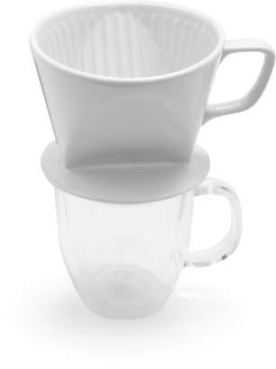 Sur La Table White Stoneware Coffee Cone