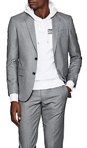 Barneys New York Men's Fabio Wool Flannel Two-Button Sportcoat - Gray