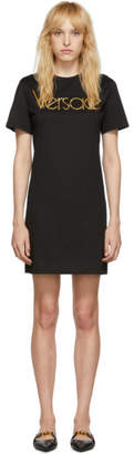 Versace Black Logo Dress