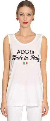Dolce & Gabbana Made In Italy Jersey Sleeveless T-Shirt