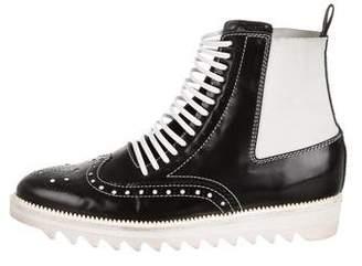 Edun Brogue Combat Boots