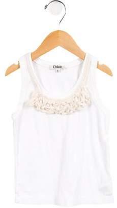 Chloé Girls' Knit Scoop Neck Top