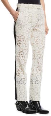 Calvin Klein Lace Tuxedo-Stripe Pants