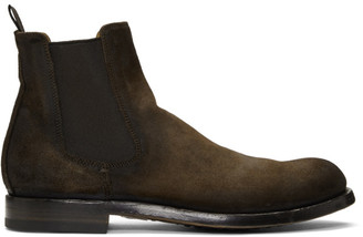 Officine Creative Brown Suede Tempus 16 Chelsea Boots