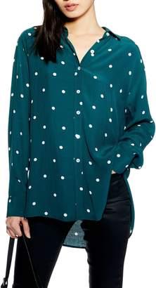 Topshop Oversize Spot Shirt