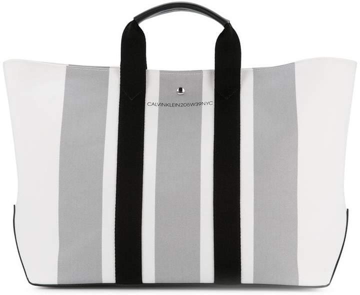 Calvin Klein 205W39nyc striped tote