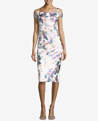 ECI Cold-Shoulder Sheath Dress