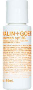 Malin+Goetz Sunscreen SPF 30