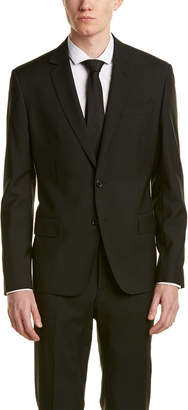 Roberto Cavalli Wool Suit With Flat Front Pant