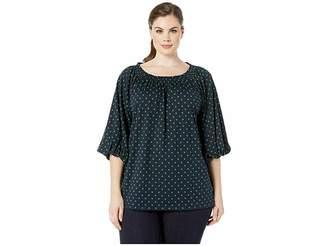 Lauren Ralph Lauren Plus Size Jersey Off the Shoulder Top