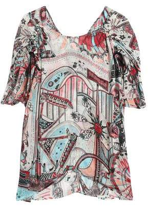 Just Cavalli Printed Chiffon Top