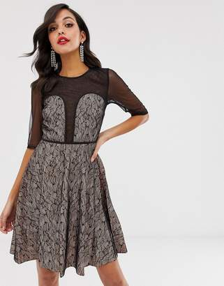 be4895c83b8f2 Little Mistress Lace Prom Dress - ShopStyle UK