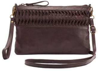 R&R Leather Ruffled Crossbody Bag