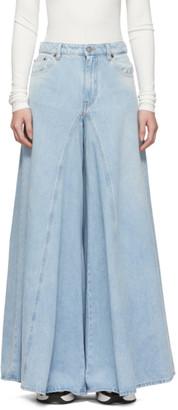MM6 MAISON MARGIELA Blue Flared Washed Jeans