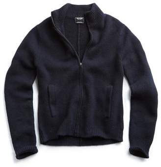 Todd Snyder Italian Boucle Full-zip Sweater Jacket in Navy