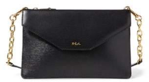 Ralph Lauren Saffiano Erika Crossbody Bag Black One Size