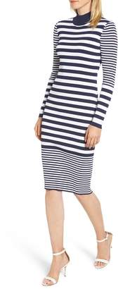 MICHAEL Michael Kors Ribbed Mock Neck Midi Dress