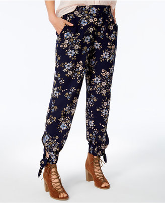Maison Jules Floral-Print Ankle-Tie Pants, Created for Macy's $59.50 thestylecure.com