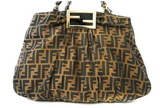ad068534dd21 ... real fendi roll bag cloth handbag c0e0b 9f3ef