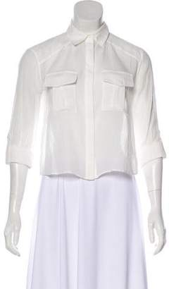 Alice + Olivia Button-Up Crop Top