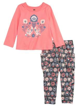 Tea Collection Brilliant Blooms Top & Cargo Pants Set