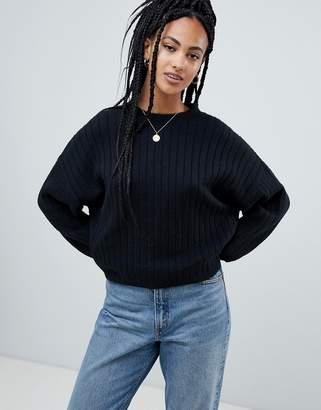 Asos Design DESIGN eco boxy sweater in wide fluffy rib