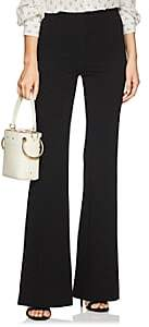 Derek Lam Women's Georgia Stretch-Jersey Wide-Leg Trousers - Black