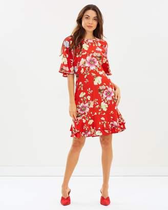 Warehouse Frill Hem Dress
