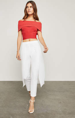 BCBGMAXAZRIA Mixed-Media Overlay Pant