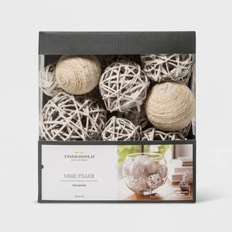 Threshold Unscented Jute Rope And Twig Balls Vase Filler White