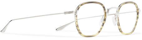 Barton Perreira Alva Round-Frame Acetate and Silver-Tone Optical Glasses