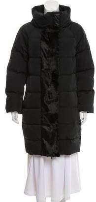 Moncler Gamme Rouge Olivia Fur-Trimmed Coat